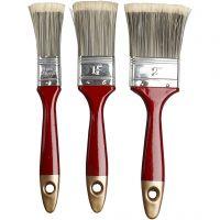 Pennelli per vernice, L: 2,5-4,5 cm, 3 pz/ 1 conf.