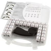 Perforatore a mano - Assortimento, lettere e numeri, misura 10 mm, 1 set