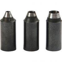 Punte per perforatore a vite, misura buco 2+3+4 mm, 3 pz/ 1 conf.