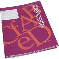Quaderno con carta a righe, A4, misura 21x29,7 cm, 32 , 25 pz/ 1 conf.
