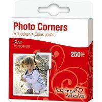 Angoli per foto, L: 10 mm, trasparente, 250 pz/ 1 conf.