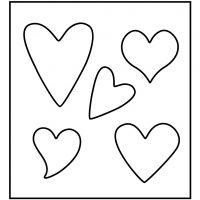 Fustella in acciaio, cuore, misura 14x15,25 cm, spess. 15 mm, 1 pz