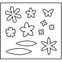 Fustella in acciaio, fiori, misura 14x15,25 cm, spess. 15 mm, 1 pz