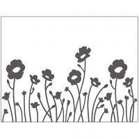 Mascherina per embossing, fiori, misura 11x14 cm, spess. 2 mm, 1 pz