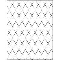 Mascherina per embossing, rombi, misura 11x14 cm, spess. 2 mm, 1 pz