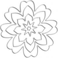 Fustella, fiori, diam: 0,5-8 cm, 1 pz