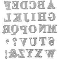 Fustella, alfabeto, misura 2x1,5-2,5 cm, 1 pz