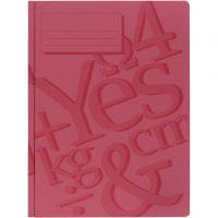 cartella di lavoro, A4, rosso, 100 pz/ 1 conf.