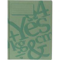 cartella di lavoro, A4, verde, 100 pz/ 1 conf.