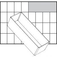 Scatola inserto, dim. A8-2, H: 47 mm, misura 157x55 mm, 1 pz