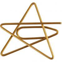 Fermagli, stella, misura 30x30 mm, oro, 6 pz/ 1 conf.