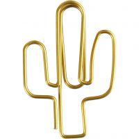 Fermagli, cactus, misura 40x30 mm, oro, 6 pz/ 1 conf.