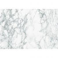 Pellicola autoadesiva , marmo, L: 45 cm, grigio, 2 m/ 1 rot.