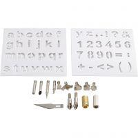 Punte di metallo, diam: 1-15 mm, 1 set