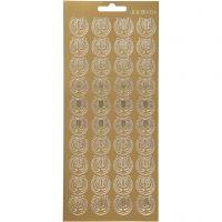 Stickers, lira, 10x23 cm, oro, 1 fgl.