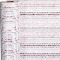 Confezione regalo, motivi, L: 57 cm, 80 g, rosso, bianco, 150 m/ 1 rot.