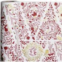 Confezione regalo, alberi di Natale, L: 50 cm, 80 g, oro, rosso, bianco, 100 m/ 1 rot.