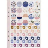 Libro stickers, fiori, A5, oro, viola, rosato, 1 pz/ 1 conf.