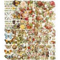 Figure fustellate vintage, tutto l'anno, 16,5x23,5 cm, 10x3 fgl./ 1 conf.