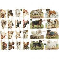 Figure fustellate vintage, cani, 16,5x23,5 cm, 2 fgl./ 1 conf.