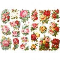 Figure fustellate vintage, Rose assortite, 16,5x23,5 cm, 2 fgl./ 1 conf.