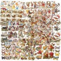 Figure fustellate vintage, Tutto l'anno, 16,5x23,5 cm, 30 fgl./ 1 conf.