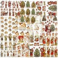 Figure fustellate vintage, Natale, 16,5x23,5 cm, 30 fgl./ 1 conf.