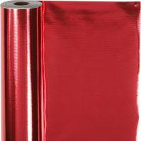 Carta da regalo, L: 50 cm, 65 g, rosso, 100 m/ 1 rot.