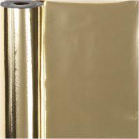 Carta da regalo, L: 50 cm, 65 g, oro, 100 m/ 1 rot.