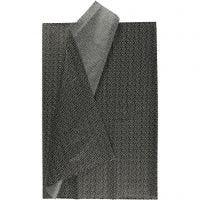 Carta velina, 50x70 cm, 17 g, nero, 6 fgl./ 1 conf.