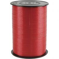 Nastro arricciabile, L: 10 mm, brillante, rosso, 250 m/ 1 rot.