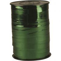Nastro arricciabile, L: 10 mm, brillante, verde metallico, 250 m/ 1 rot.