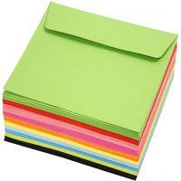 Buste colorate, dim. busta 16x16 cm, 80 g, colori asst., 10x10 pz/ 1 conf.