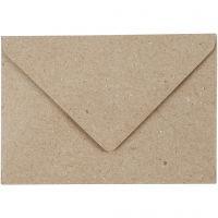 Buste riciclate, dim. busta 7,8x11,5 cm, 120 g, beige, 50 pz/ 1 conf.