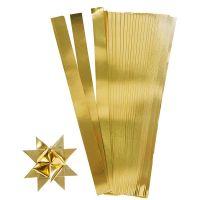 Scrisce di carta per stelle Froebel, L: 45 cm, L: 10 mm, diam: 4,5 cm, oro, 100 strisce/ 1 conf.