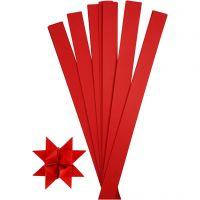 Scrisce di carta per stelle Froebel, L: 73 cm, diam: 11,5 cm, L: 25 mm, rosso, 100 strisce/ 1 conf.