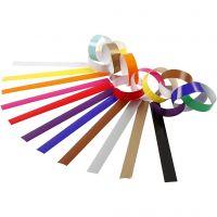 Catene di carta, L: 16 cm, L: 15 mm, colori asst., 400 pz/ 1 conf.