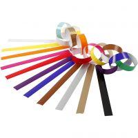 Catene di carta, L: 16 cm, L: 15 mm, colori asst., 2400 pz/ 1 conf.