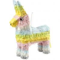 Pignatta per feste, misura 39x13x55 cm, colori pastello, 1 pz
