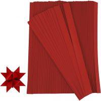 Scrisce di carta per stelle Froebel, L: 45 cm, diam: 6,5 cm, L: 15 mm, rosso, 500 strisce/ 1 conf.