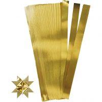 Scrisce di carta per stelle Froebel, L: 45 cm, diam: 6,5 cm, L: 15 mm, oro, 100 strisce/ 1 conf.