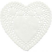 Centrini, cuore, diam: 10 cm, 30 pz/ 1 conf.