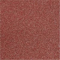 Pellicola glitter, L: 35 cm, spess. 110 my, rosso, 2 m/ 1 rot.