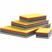 Cartoncino colorato, A2,A3,A4,A5,A6, 180 g, colori asst., 1800 fgl. asst./ 1 conf.