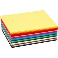 Cartoncino colorato, A6, 105x148 mm, 180 g, colori asst., 120 fgl. asst./ 1 conf.