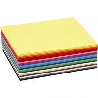 Cartoncino colorato, A6, 105x148 mm, 180 g, colori asst., 300 fgl. asst./ 1 conf.