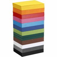 Cartoncino, A6, 105x148 mm, 180 g, colori asst., 12x100 fgl./ 1 conf.