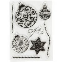 Motivi in silicone, sfere di Natale, misura 10,5x15 cm, 1 fgl.