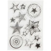 Motivi in silicone, stelle, misura 10,5x15 cm, 1 fgl.