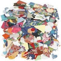 Ritagli di carta fatta a mano, misura 25-130 mm, 110 g, 500 g/ 1 conf.
